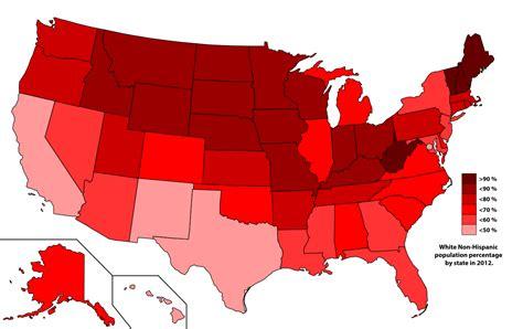 File:White Non-Hispanic population percentage by state in ...