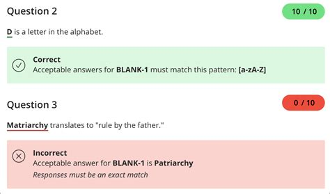 Fill in the Blank Questions | Blackboard Help