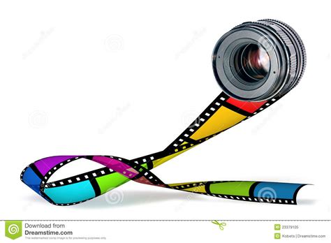 Film Strip Color Cartoon Vector | CartoonDealer.com #28098569