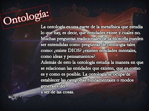 Filosofia, ontologia
