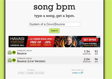 Find The BPM For Any Song By Entering The Title & Artist Name