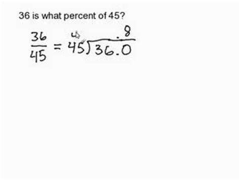 Find the Percent Given Two Numbers - YouTube