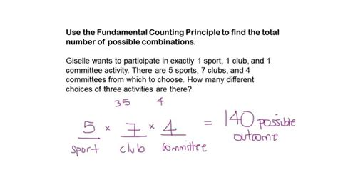 Find the Total Number of Possible Combinations - YouTube