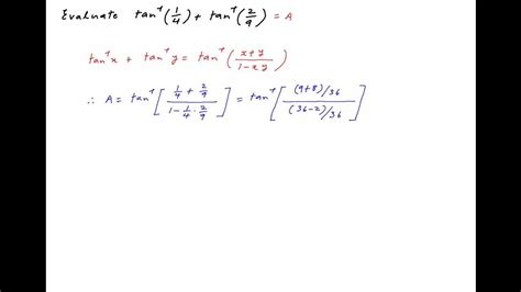 Find the value of arctan 1/4  + arctan 2/9 .   YouTube