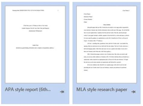 Finding MLA and APA Templates in MS Word | From the ...