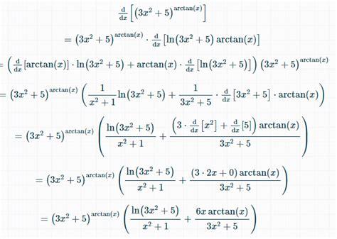 Finding the derivative of $ 3x^2 +5 ^{\arctan x ...