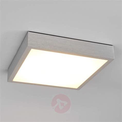 Finnian square LED ceiling light, aluminium   Lights.co.uk