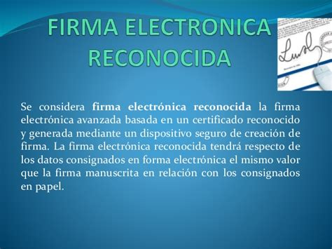 Firma electronica