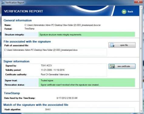 Firmar los documentos digitales y verificar integridad con ...