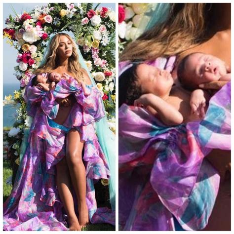First Look: Beyoncé shares a photo with twins Rumi and Sir ...
