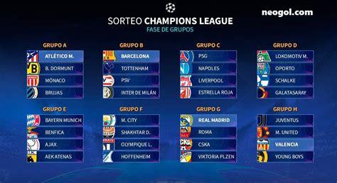 Fixture Champions League 2018-2019 | Calendario Completo UCL