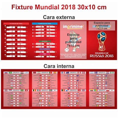 Fixture Mundial 2018 Personalizado - Comprar Artículos ...