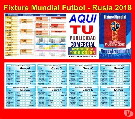 FIXTURE MUNDIAL FUTBOL RUSIA 2018 CON PUBLICIDAD COMERCIAL ...