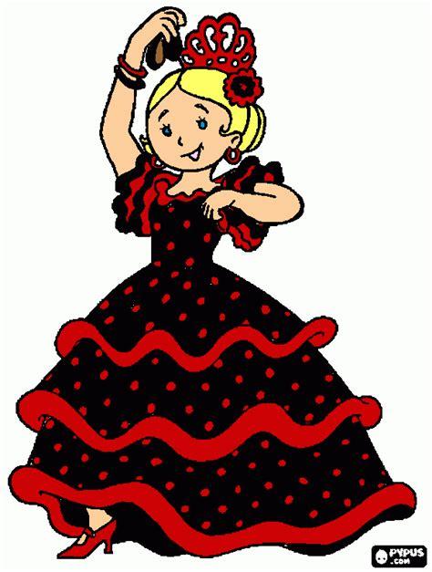 flamenca para colorear, flamenca para imprimir