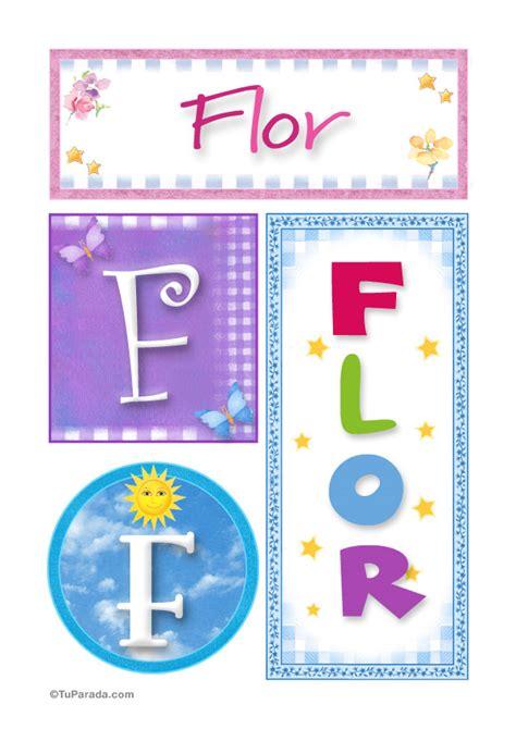 Flor, nombre, imagen para imprimir   Mujer   Nombres ...
