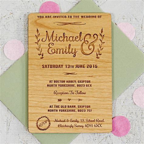 floral wooden wedding invitation by sophia victoria joy ...