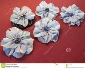 Flores Artificiales Azules De La Tela Foto de archivo ...
