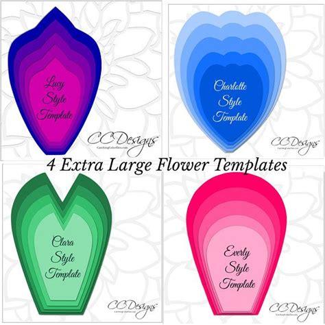 Flores de papel grandes, plantillas en PDF para imprimir ...