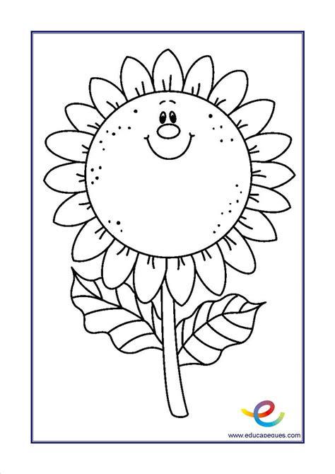 Flores para colorear - Recursos educativos