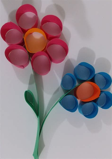 Flower Paper Craft | Easy paper crafts, Easy art projects ...