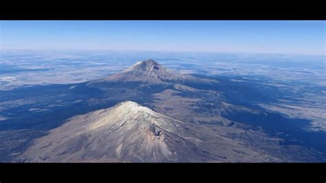 Fly over Popocatépetl and Iztaccihuatl   YouTube