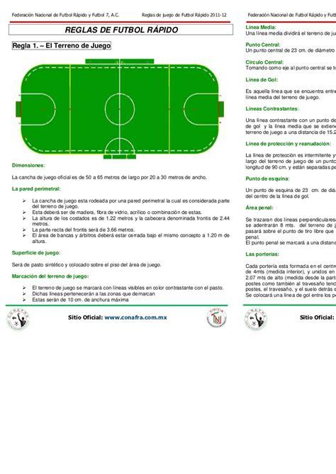 FNFR Reglas de Juego de Futbol Rápido 2011 pdf