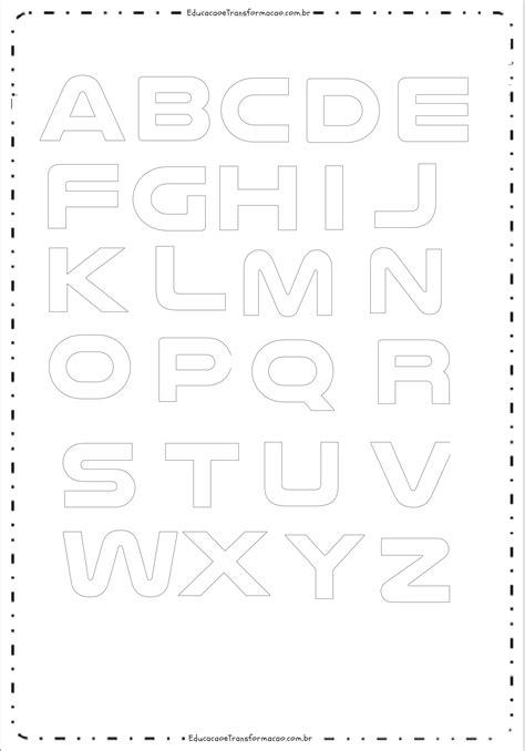 Folha A4   Moldes de Letras Grandes para imprimir ...