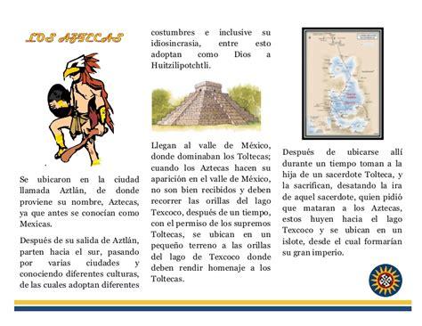 Folleto aztecas