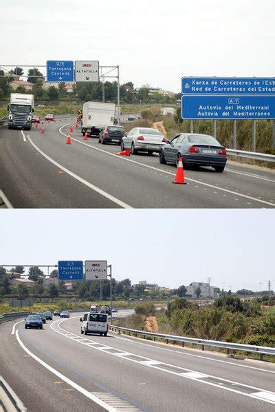 Fomento mejora un punto negro de la N-340 en Tarragona ...