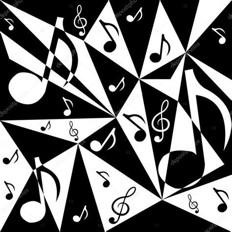 Fondo abstracto de vector con notas musicales en blanco y ...