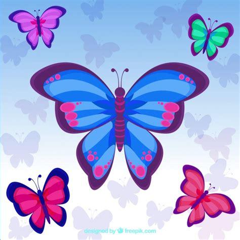 Fondo bonito de mariposas de colores | Descargar Vectores ...