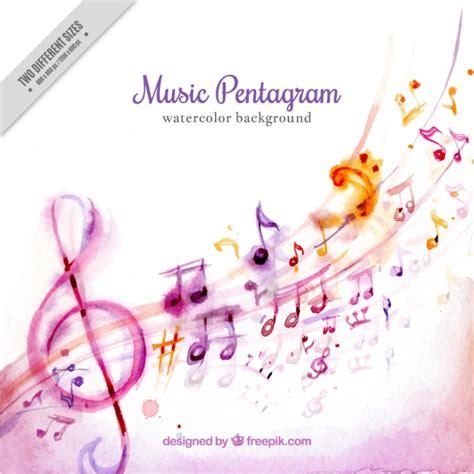 Fondo de acuarela de bonitas notas musicales | Descargar ...