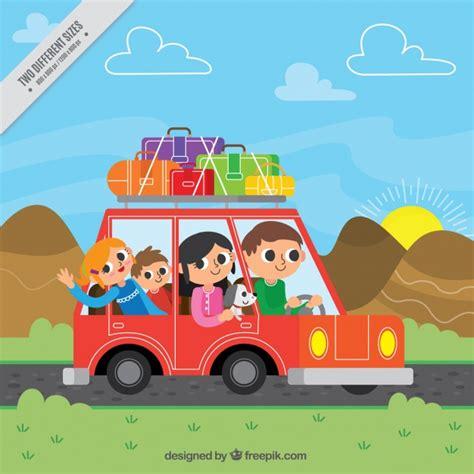 Fondo de familia feliz viajando en un coche | Descargar ...