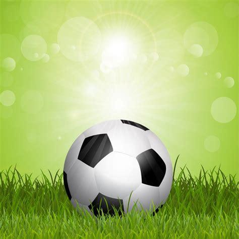 Fondo de fútbol con balón de fútbol en hierba | Descargar ...