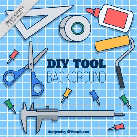 Fondo de herramientas dibujadas a mano para trabajos ...