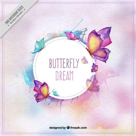Fondo de mariposas bonitas en estilo de acuarela ...