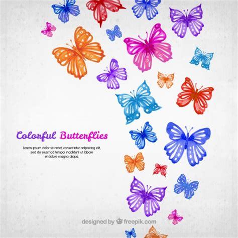 Fondo de mariposas coloridas de acuarela | Descargar ...