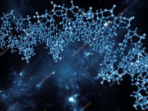 Fondo de moléculas orgánicas — Foto de stock © agsandrew ...