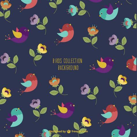 Fondo de pájaros de colores   Descargar Vectores gratis