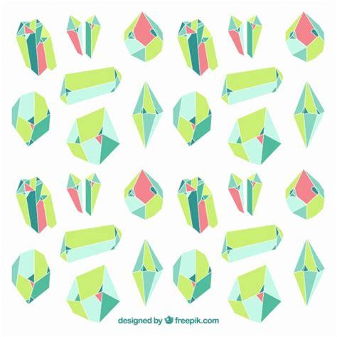 Fondo de piedras preciosas verdes | Descargar Vectores Premium