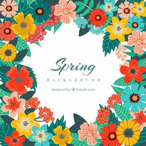 Fondo de primavera con bonitas flores de colores ...