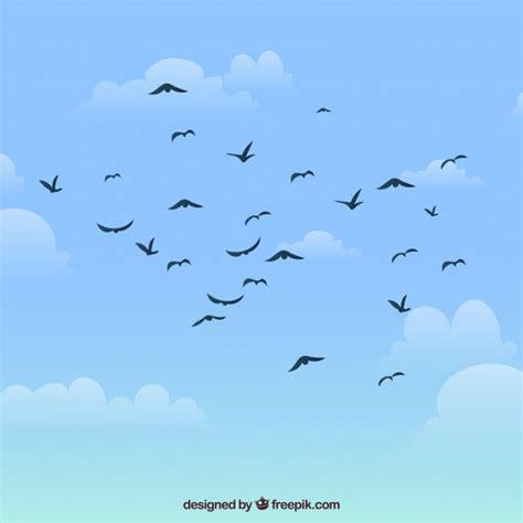 Fondo de siluetas de pájaros volando | Descargar Vectores ...