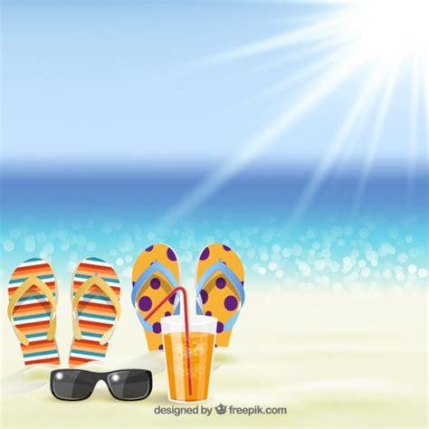 Fondo del verano con sandalias en la playa | Descargar ...