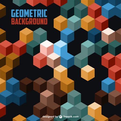 Fondo geométrico 3D | Descargar Vectores gratis