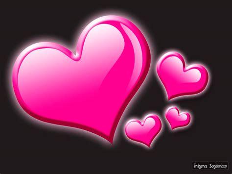 Fondo gris con corazones rosas | Wallpaper   Imágenes Para ...