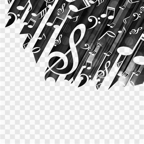 Fondo negro con notas musicales | Descargar Vectores gratis