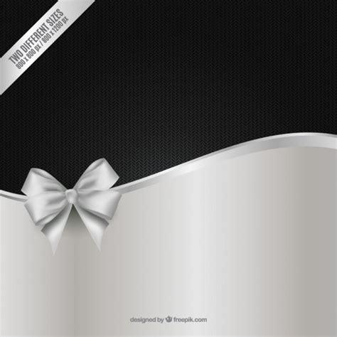 Fondo negro y plata con lazo   Descargar Vectores Premium