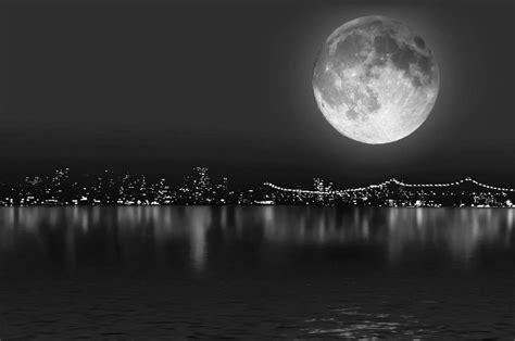 Fondo pantalla Luna y Mar Blanco y Negro   byn   Pinterest ...