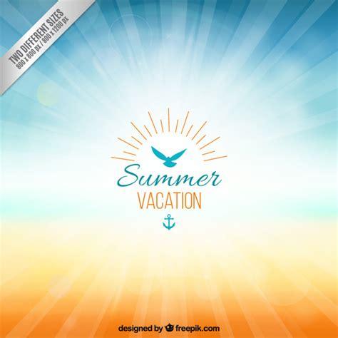 Fondo para las vacaciones de verano | Descargar Vectores ...