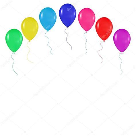 Fondo realista globos colores, días de fiesta, saludos ...